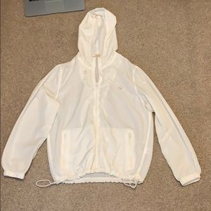 White Brandy Melville Windbreaker
